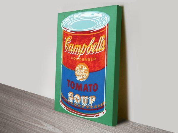 Campbells Colored Soup Can Warhol Vintage Pop Art