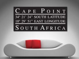 cape point coordinates canvas print