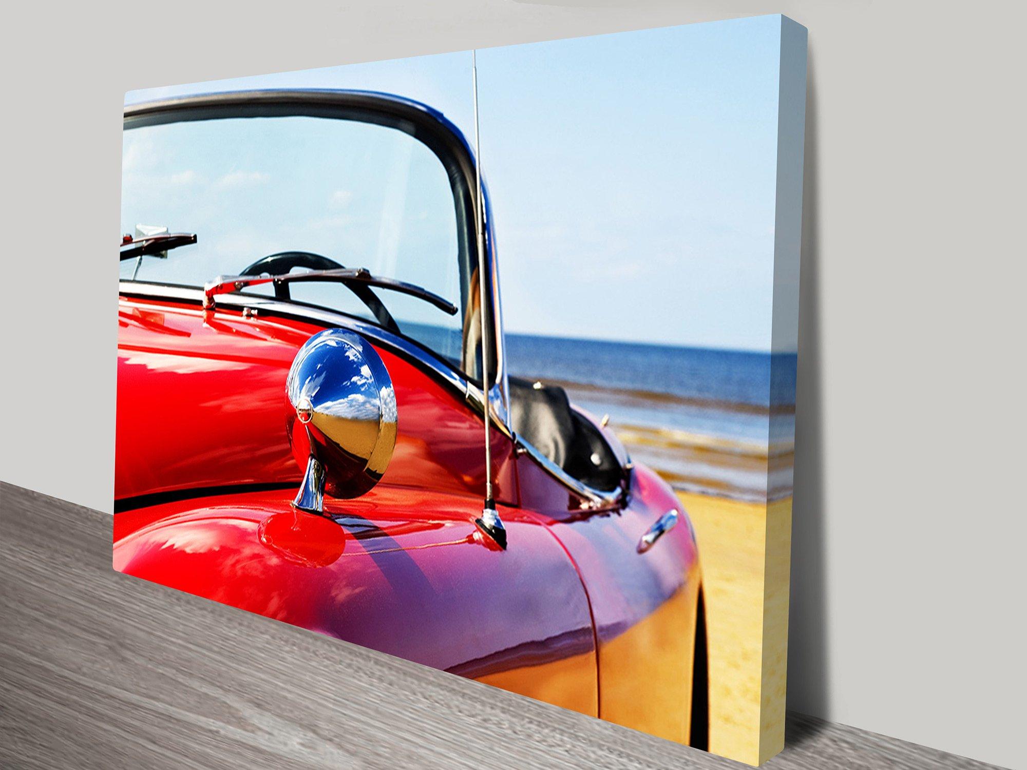 Car on Beach Canvas Print Perth