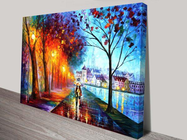 City by the Lake Leonid Afremov Print