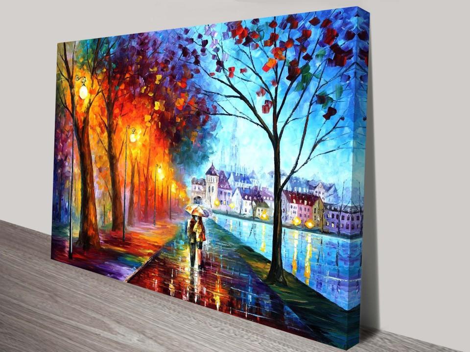 City By The Lake Buy Leonid Afremov Canvas Art Prints Online