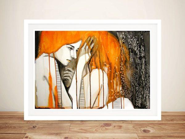 Crying lady Framed Wall Art
