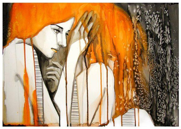 Crying Lady abstract wall art australia