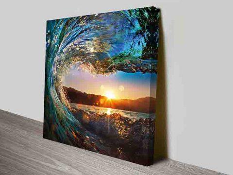 Crystalline Barrels Crashing Wave Art