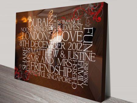 custom framed word art