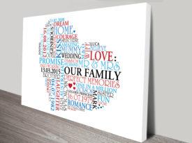 custom word art love hearts