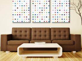 Damien Hirst Xylosidase 3 Panel Modern Art Canvas Print Set