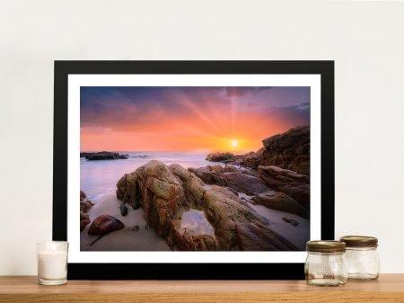 Lighthouse Sunset Framed Wall Art Brisbane