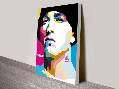 Eminem Pop Art Wall Canvas