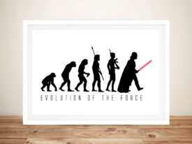evolution of the force Framed Wall Art