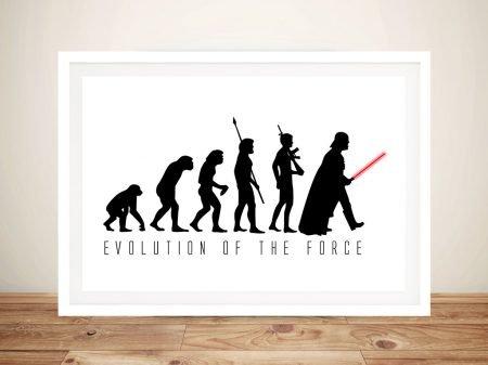evolution of the force Framed Wall Art