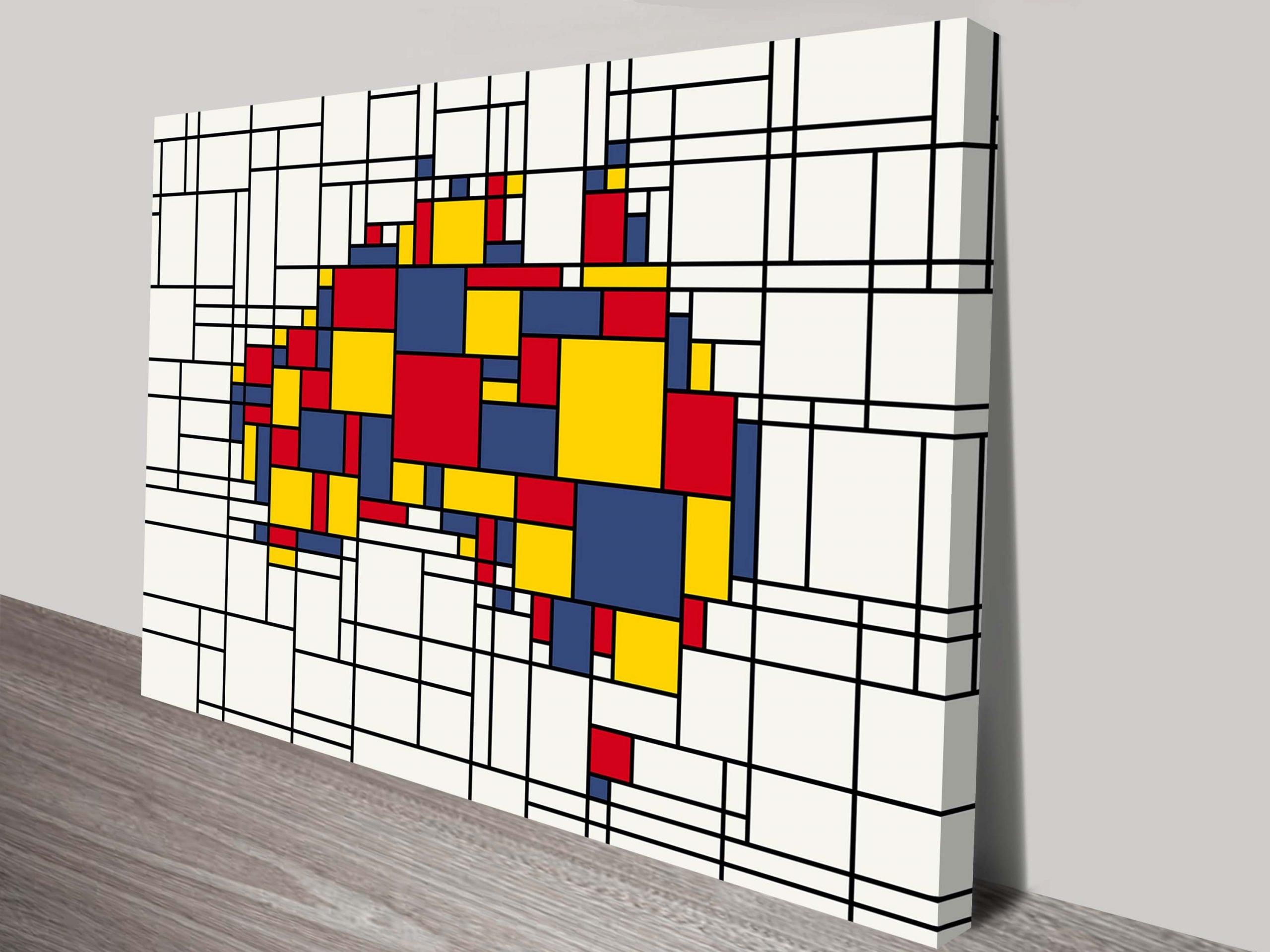 Mondrian Inspired Map Print of Australia by Michael Tompsett