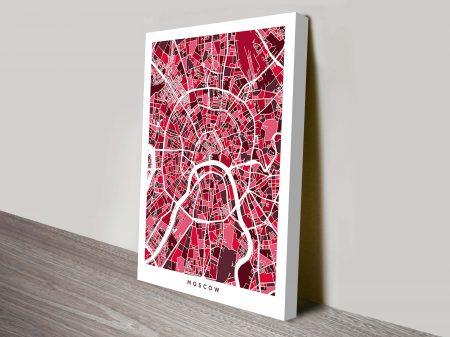Moscow Street Map Art Michael Tompsett