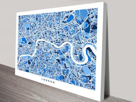 London Street Map Art Michael Tompsett