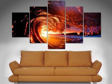 fire water diamond canvas print