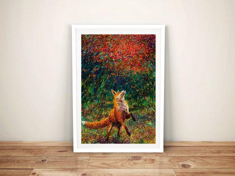 Fox Fire Iris Scott Finger Painting Print