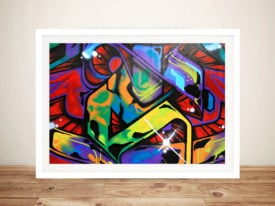 Graffiti Art Abstract Framed Wall Print