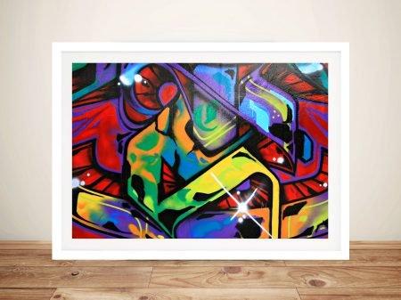 Graffiti Art Abstract Framed Wall Print