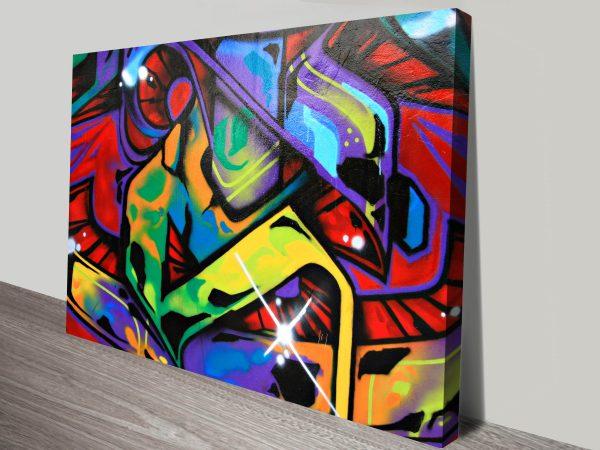 Graffiti art abstract canvas print