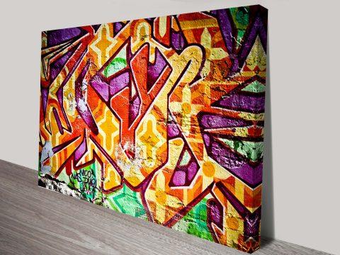 Disappearing Art Fading Graffiti Print