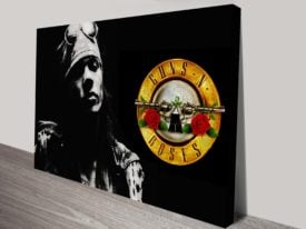 guns and roses canvas art