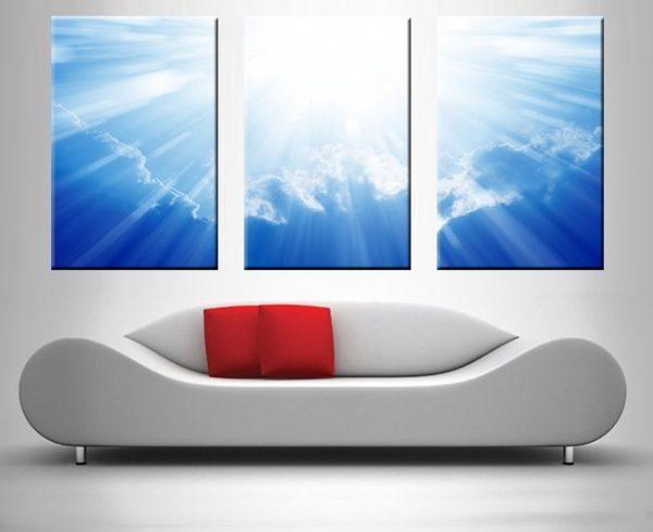 heaven triptych wall art print on canvas australia