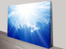 majestic shining sun in heaven wall art canvas print australia