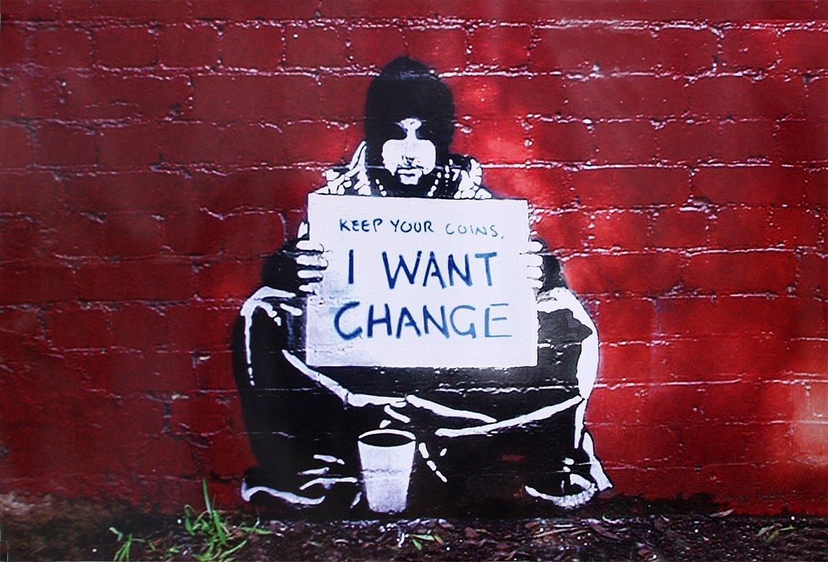 i want change banksy