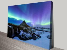 Iceland Aurora Northern Lights II Canvas Photo Prints
