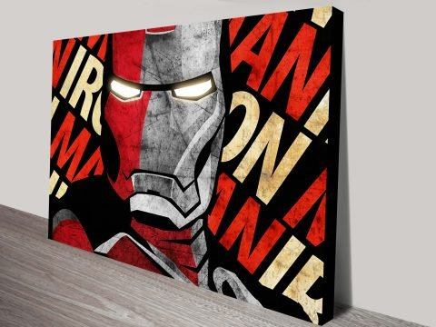 Iron Man Street Art Print