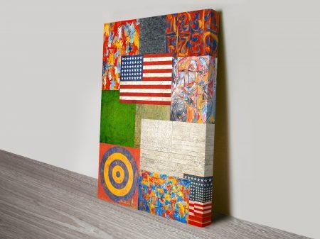 Jasper Johns Collage Vintage Pop Art Canvas Print