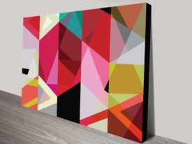 kaleidoscopic canvas print artwork
