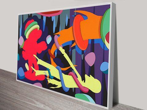 kaws skeuds art print