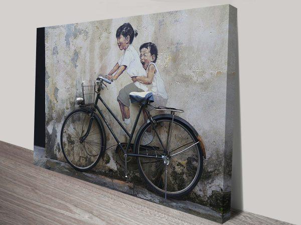 Buy Banksy Street Art Canvas Prints Australia