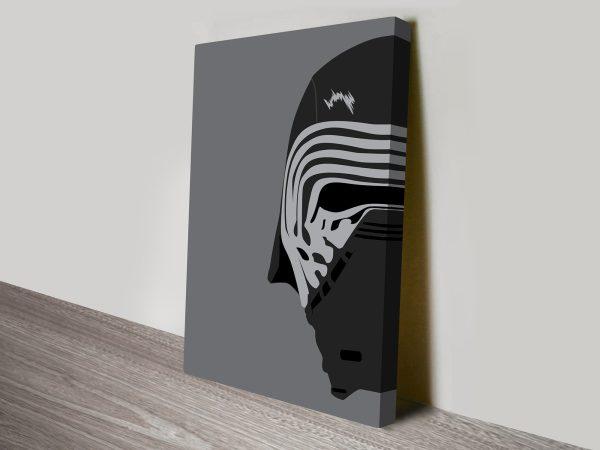 Kylo Helmet Star Wars Art Canvas Print