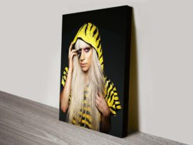 lady gaga pop art canvas