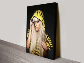lady gaga pop art canvas