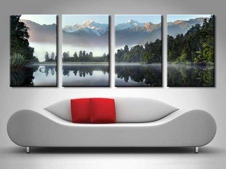 Serenity Mountain Lake Canvas Printing