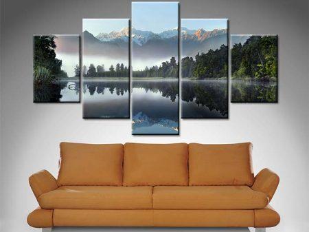 lake serenity 5 Panel lake canvas set