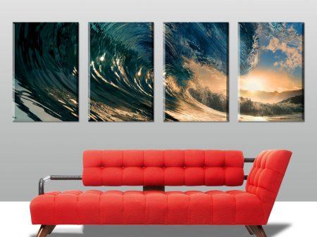 large surfing split canvas print