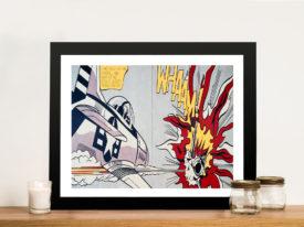 Whaam Roy Lichtenstein Print on Canvas