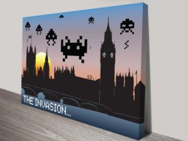 Space Invaders Pop Art Canvas