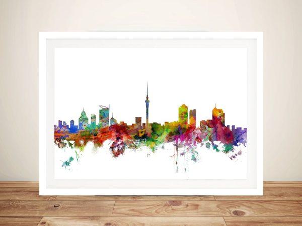 Michael Tompsett Auckland Skyline Art