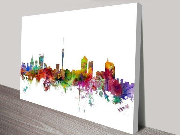 Auckland, New Zealand Skyline Canvas Print