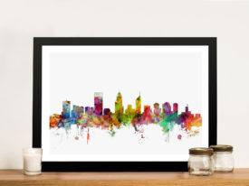 Perth Australia Skyline Framed Wall Art