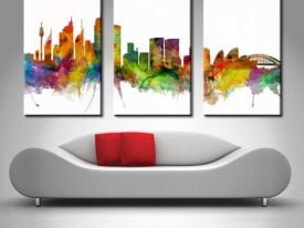Sydney Watercolour Triptych Set 3 Art by Michael Tompsett