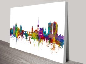 New Delhi Watercolour Cityscape by Michael Tompsett Ready to Hang Art