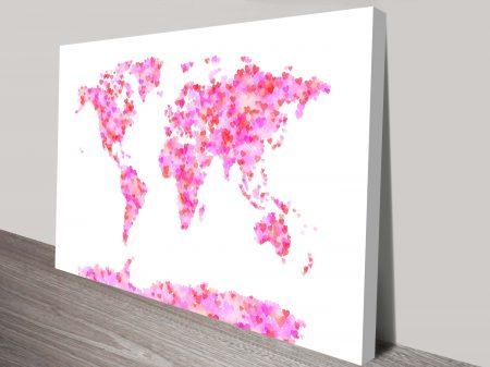World Map of Hearts Michael Tompsett