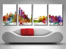 Split canvas print of New York by Michael Tompsett