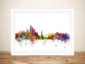 New York Skyline Framed Wall Art